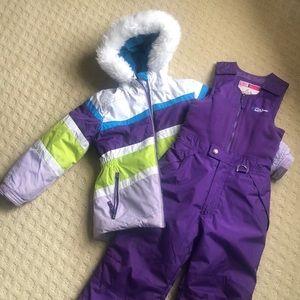 ❄️Girls 2 piece Snowsuit